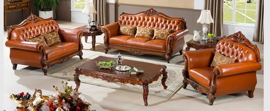 美式实木沙发,显得简洁