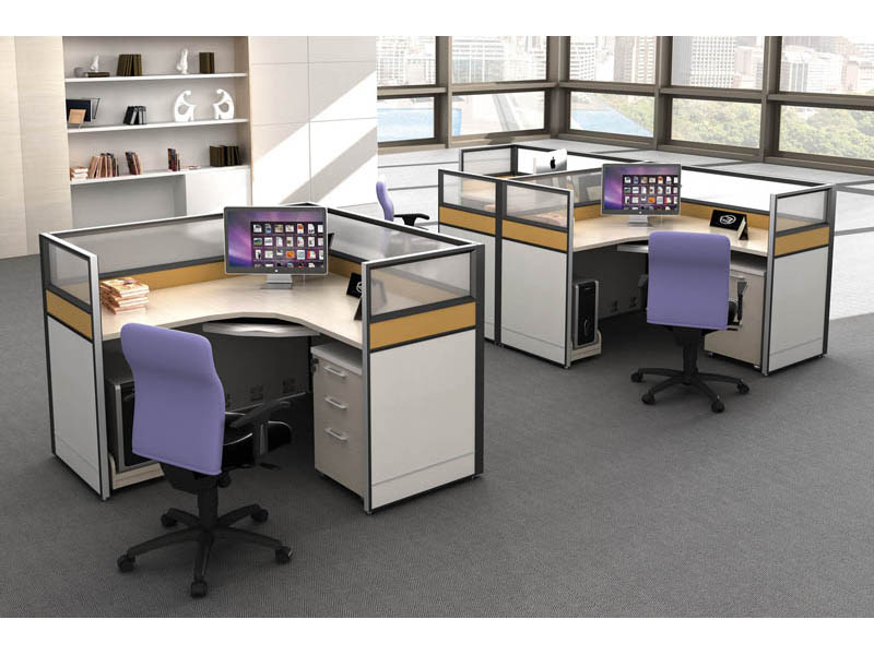 事业单位方形单人四人组合职员办公桌椅V5-0301-14
