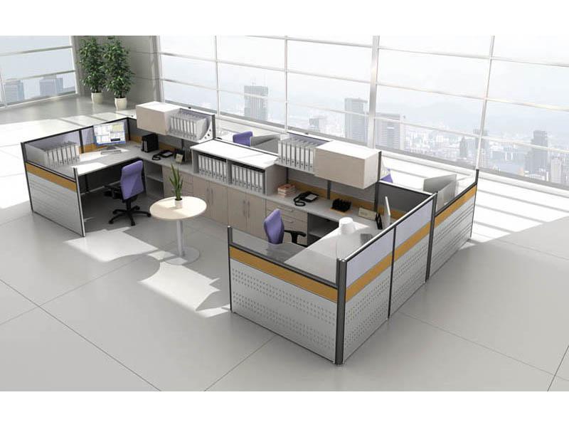 主管用双人办公屏风卡位事业单位办公桌椅V7+V5-0104D
