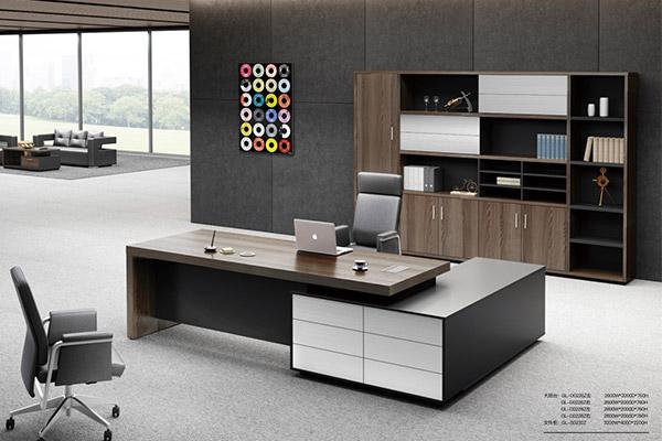 首頁 迪歐家具產品中心 材質分類 板式/膠板辦公家具 辦公家具老板桌
