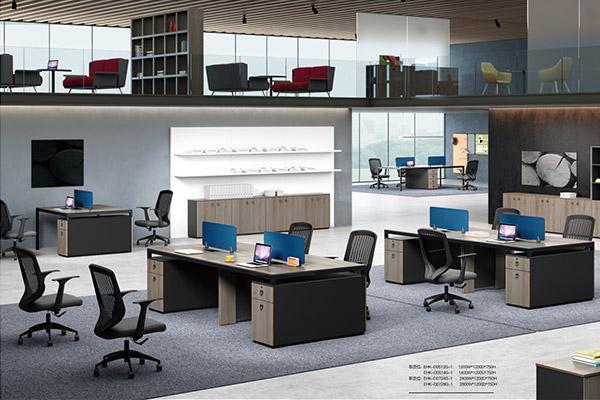 职员办公桌椅简约桌椅组合屏风工位4/6/8人位汉克