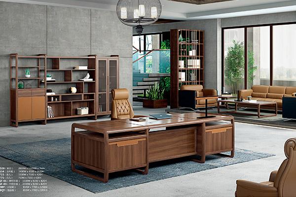 新中式老板办公桌全实木老板班台-雅致