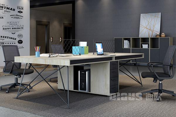 现代办公桌办公室办公职员桌员工桌-几何