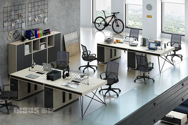 现代办公职员桌办公室办公桌椅-几何