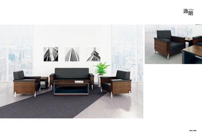 公司企业总裁总经理会议室接待洽谈胡桃木沙发DA8065