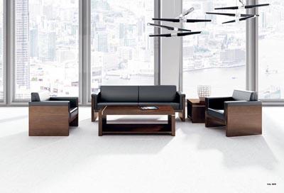 黑橡木皮中纤板简约风格沙发套装DA8061
