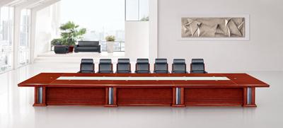 流线型红色酸枝木公司企业会议洽谈台C8223S