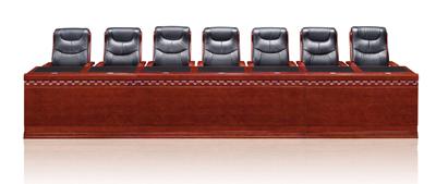公司企业会议室油漆酸枝色主席台C8272S