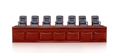 传统风格油漆酸枝色会议条桌主席台C8274S