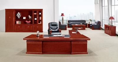 油漆酸枝木公司企业总裁经理办公班台D801828S