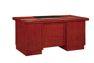 事业单位办公行政红色酸枝木行政桌H8056D16