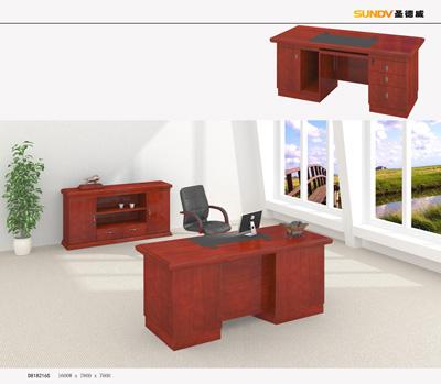 事业单位主管办公红色酸枝木行政桌办公班台D818416S