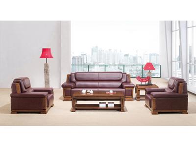 传统风格总经理室洽谈用软体沙发SA8054U