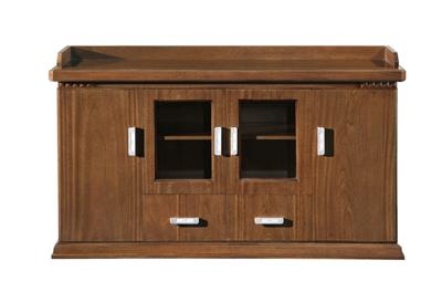 公司企业传统风格油漆鸡翅木木皮贴面茶水柜U06H15