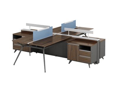 公司四人职员组合胶板工作位办公桌FD-D0630H
