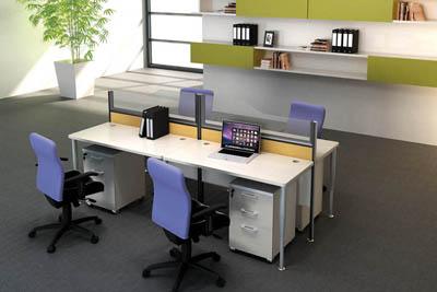 简约相对桌前屏风办公卡位办公桌椅V5-070-24