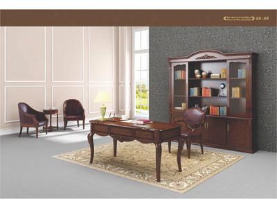 高端美式进口实木总裁经理办公文件柜M04S22