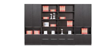 E1级红橡木黑色开放效果事业单位总裁用文件柜AO-S0508