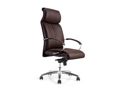 五脚滚轮不锈钢脚架事业单位总经理用大班椅DA200A