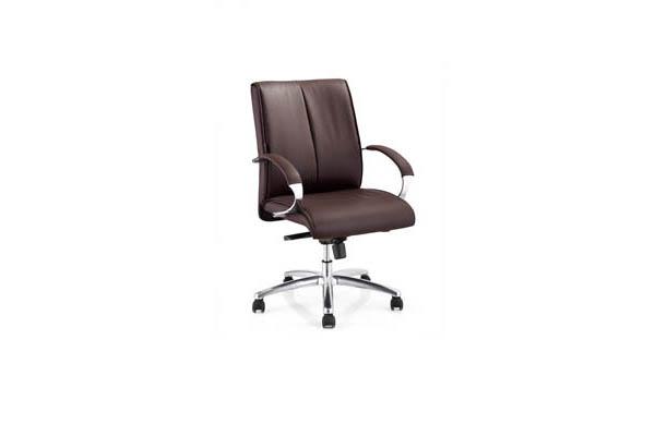 公司企业主管用简约风格五脚滚轮办公椅子DA200B