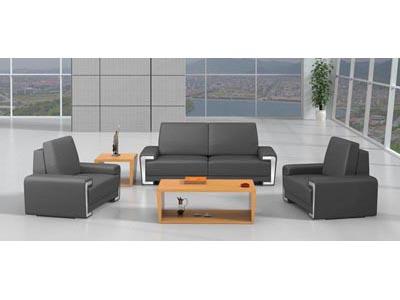 简约不锈钢装饰板企业经理洽谈区沙发软体套装DA8049