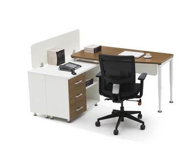 公司企业职员办公桌、简约胶板卡位KR2-D1416