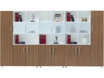 时尚简约总监经理胶板材质大储量文件柜KR2-S0112L+KR2-S0208+KR2