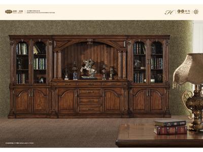 体现宫殿教堂元素纯实木文件柜GY-002WJG