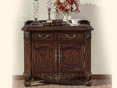 美式风格纯红栎木企业总裁矮柜茶水柜GY-007CSG