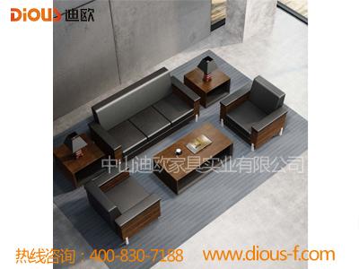 黑色简约总裁室软体家具沙发EDE-01