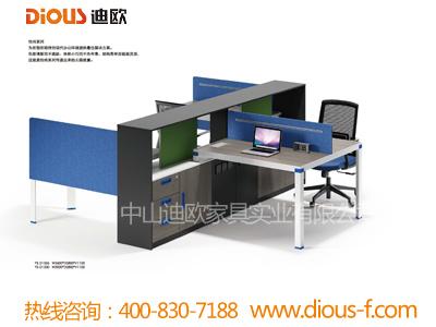组合式配文件柜胶版职员办公桌YS-D1526