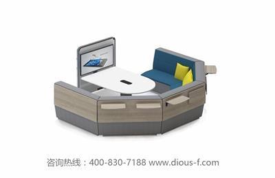 舒适时尚多人会议商务洽谈沙发信息岛DF6013