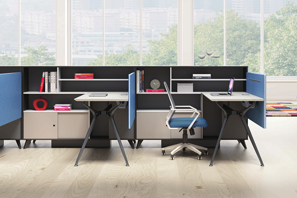 公司企业多样式组合职员白色办公桌FL-D2030