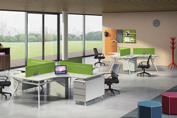 金属支撑时尚简约胶版职员办公桌办公台FL-D1328 H