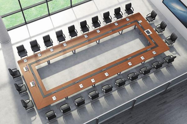 公司企业大会议室26人时尚简约长形会议台EX-32-C10