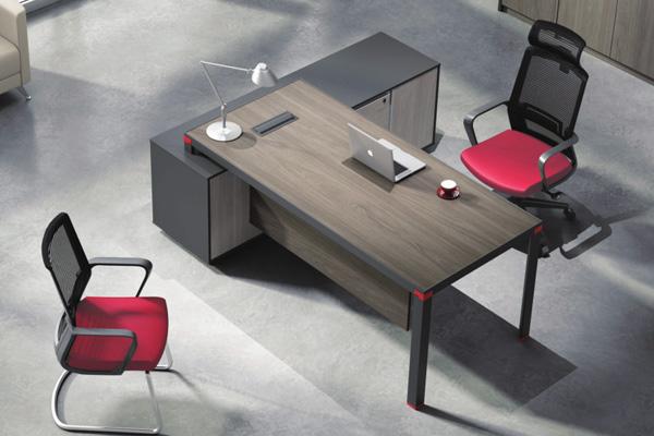 现代简约配副柜主管经理胶版办公桌YS-D0320