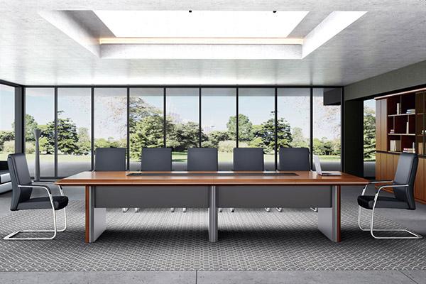 中大型办公会议桌企业现代会议桌椅组合君临