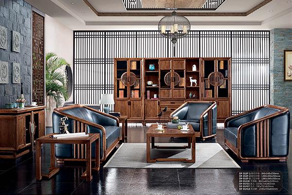 新中式古典办公沙发 沙发新款-水墨江南