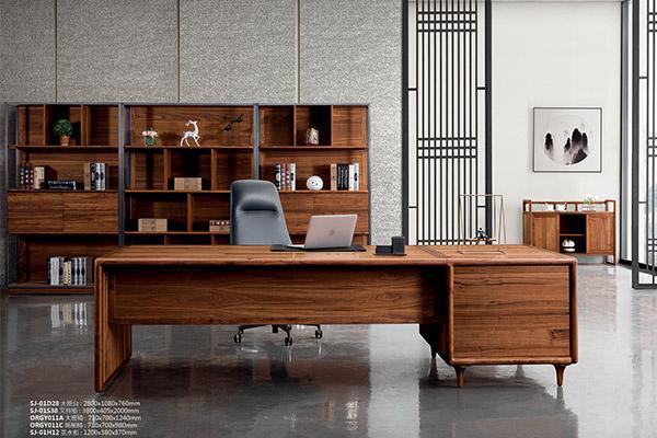 古典传统全实木老板桌办公家具桌椅-世纪木歌