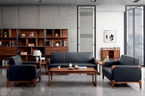 新中式简约办公室沙发 沙发新款-世纪木歌