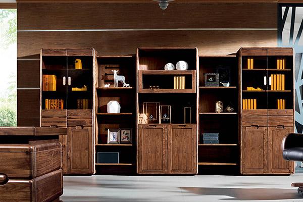 古典传统全实木办公文件柜 老板办公书柜-挪威森林