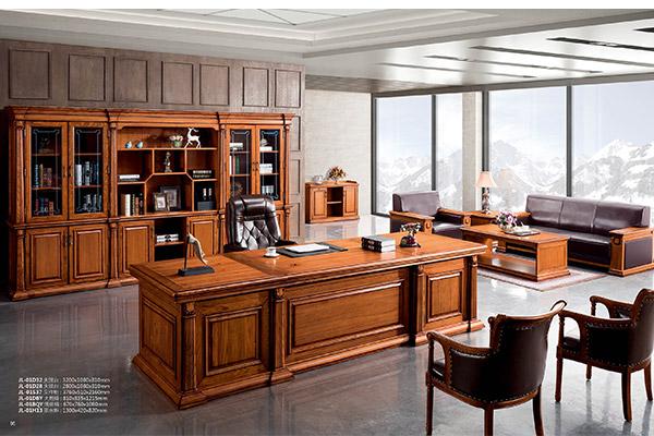 新中式全实木老板经理办公桌办公家具-君临天下