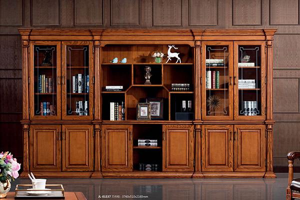 传统全实木老板文件柜办公柜文件柜-君临天下