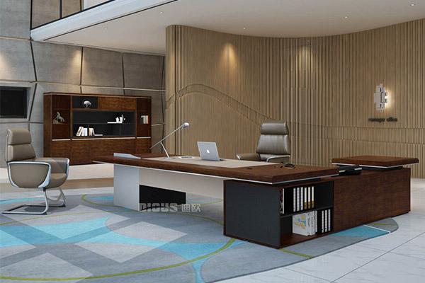 现代办公老板桌大班台办公室办公桌椅-辉腾