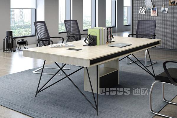 现代时尚办公室职员会议桌洽谈桌-几何