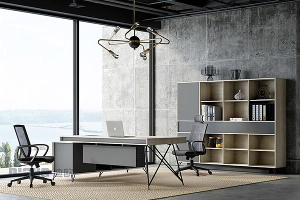 现代简约办公老板桌主管桌办公室办公桌椅-几何