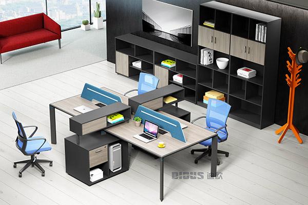 现代简约屏风卡位组合办公桌椅-金钻