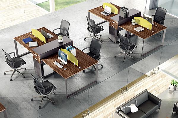 企业单位职员办公桌办公室办公桌椅厂家-森雅图