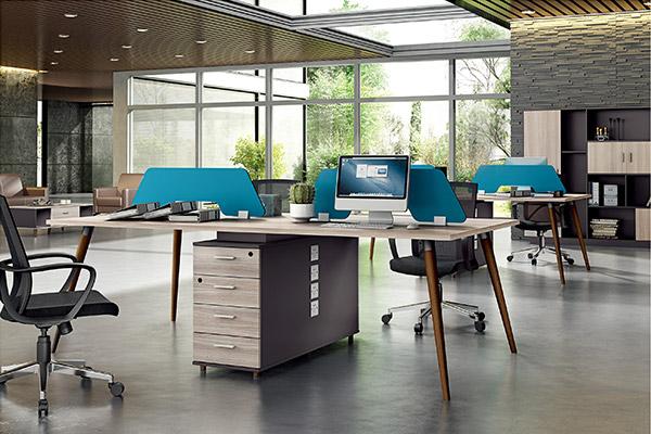 企业公司职员屏风卡位胶版办公桌批发厂家-森雅图