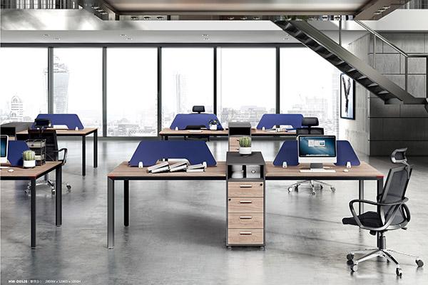 现代简约胶版材质办公屏风卡位办公桌-森雅图